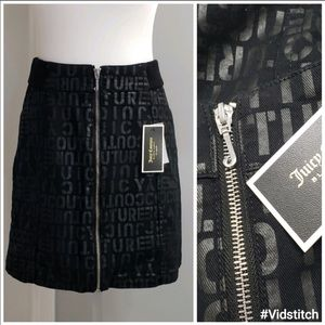 🆕✨ Juicy Couture Skirt Black Logo Size 28